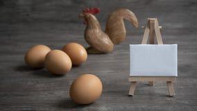 Gesund durch Eier stockfoto