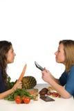 Gesund gegen ungesundes Lizenzfreies Stockbild
