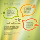 Gesund-Lebensstil-Konzept-Plan-Broschüren Stockfotos