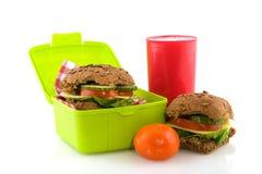 Gesund nehmen Sie Mittagessenkasten weg lizenzfreie stockfotos