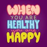 Gesund und glücklich Lizenzfreie Stockbilder