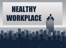 Gesunde Arbeitsplatzdarstellung stock abbildung