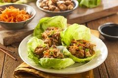 Gesunde asiatische Hühnerkopfsalat-Verpackung Lizenzfreies Stockfoto