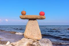 Gesunde Balance der Äpfel Stockfotos