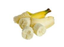 Gesunde Banane lokalisiert auf weißem Hintergrund Lizenzfreies Stockbild