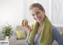 Gesunde Diät und Eignung lizenzfreies stockbild