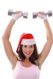 Gesunde Eignung Weihnachtspresse Stockfoto