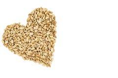 Gesunde Erdnussherzform stockfotos