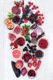 Gesunde Ernährung mit Anthocyanin-Lebensmittel Lizenzfreie Stockfotografie