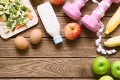 Gesunde Ernährung, nährend, Abnehmen- und Gewichtsverlustkonzept - Spitze Stockfotos