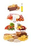 Gesunde Essenpyramide Stockfotografie