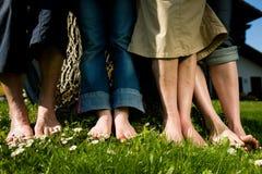 Gesunde Füße: In einer Reihe Lizenzfreies Stockbild