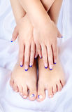 Gesunde Füße und Hände Stockbild