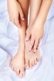 Gesunde Füße und Hände Stockfoto