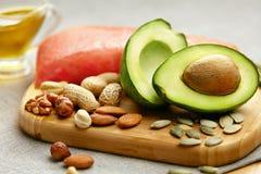 Gesunde Fette Neues biologisches Lebensmittel auf Tabelle Stockfoto