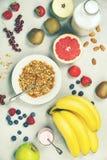 Gesunde Frühstücks-Bestandteile stockfoto