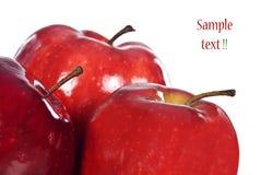 Gesunde frische rote Äpfel Lizenzfreies Stockbild