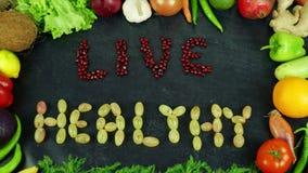 Gesunde Frucht Eat&live stoppen Bewegung lizenzfreie stockbilder