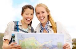 Gesunde glückliche junge Frauen lizenzfreies stockfoto