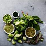 Gesunde grünes Lebensmittel Proteinquelle für Vegetarier Stockbild
