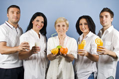 Gesunde Gruppenleute Lizenzfreie Stockfotos