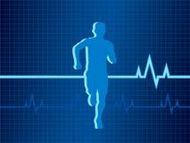 Gesunde Herzschlagvektorabbildung Lizenzfreie Stockfotografie