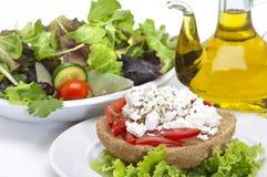 Gesunde kretische Nahrung Stockfotos