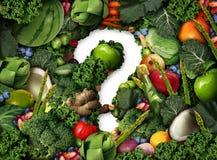 Gesunde Lebensmittel-Frage Stockfoto