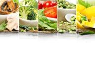 Gesunde Lebensmittel-Mischung stockbild