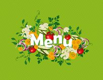 Gesunde Lebensmittelmenüillustration Lizenzfreie Stockbilder