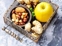 Gesunde Lebensmittelzusammensetzung Stockbild