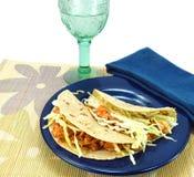 Gesunde Mahlzeit von Fische Tacos Stockfotografie