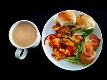 Gesunde Mahlzeiten wird gedient stockfotografie