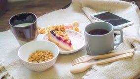 Gesunde Morgenmahlzeit E r stockbilder