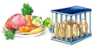 Gesunde Nahrung der Diät Lizenzfreies Stockbild