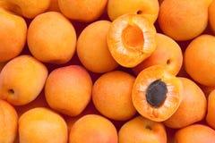 Gesunde Nahrung, Hintergrund. Aprikose Lizenzfreies Stockfoto