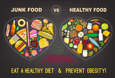 Gesunde Nahrung Infographics Lizenzfreies Stockfoto