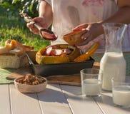 Gesunde Nahrung Vegetarisches Mittagessen Gesunder Lebensstil stockfotos