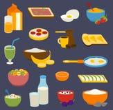 Gesunde Nahrungsfrühstücks-Proteinfette, Kohlenhydrate balancierten tägliche Diät des Sportmorgens, das Kochen kulinarisch und lizenzfreie abbildung