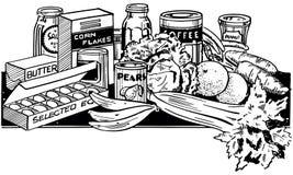 Gesunde Nahrungsmittel stock abbildung