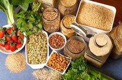 Gesunde Nahrungsmittel stockbild