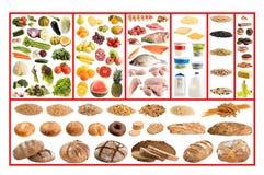 Gesunde Nahrungsmittelanleitung lizenzfreie stockfotografie