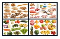 Gesunde Nahrungsmittelanleitung Stockbilder