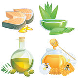 Gesunde Nahrungsmittelergänzungen lizenzfreies stockfoto