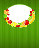 Gesunde Nahrungsmittelmenüschablonen-vektorabbildung Stockfoto