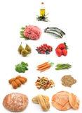 Gesunde Nahrungsmittelpyramide stockbilder