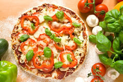 Gesunde Pizza Stockbild