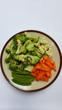 Gesunde Platte des Gemüses lizenzfreie stockfotografie