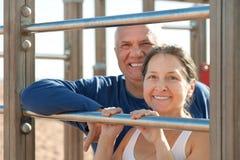 Gesunde reife Paare Lizenzfreies Stockfoto