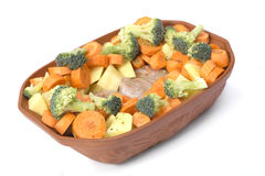 Gesunde rohe Nahrung in der Schüssel Stockbilder